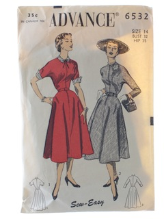 1940's Womens Dress Pattern