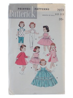 1960's Womens Doll Pattern