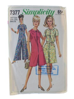 1970's Womens Pant Dress Pattern