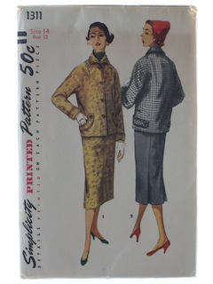 1950's Womens Suit Pattern