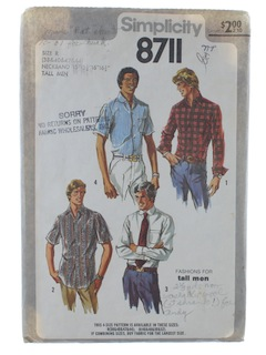 1970's Mens Shirt Pattern