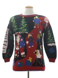 1980's Unisex Amazinlgy Ugly Christmas Sweater