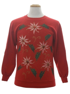 1980's Unisex Ladies or Boys Ugly Christmas Sweatshirt