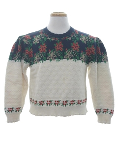 1980's Womens Vintage Ugly Christmas Sweater