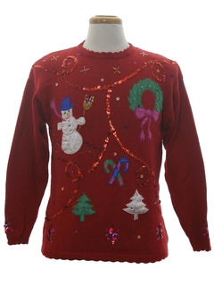 1980's Unisex Designer Ugly Christmas Sweater