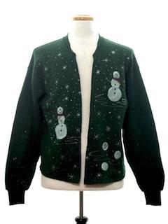 1980's Unisex Open Front Ugly Christmas Sweatshirt