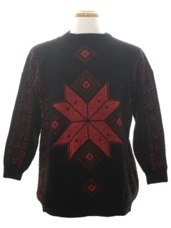 1980's Unisex Vintage Minimalist Ugly Christmas Sweater
