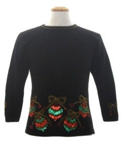 1980's Womens or Girls Ugly Christmas Cocktail Sweater