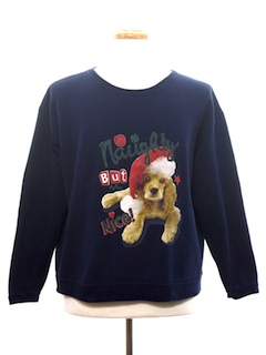 1980's Womens Dog-gonnit Ugly Christmas Sweatshirt