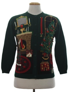 1980's Womens or Girls Country Kitsch Ugly Christmas Sweater