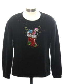 1990's Womens Minimalist Ugly Christmas Cocktail Sweater
