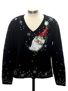 1990's Womens or Girls Ugly Christmas Cocktail Sweater