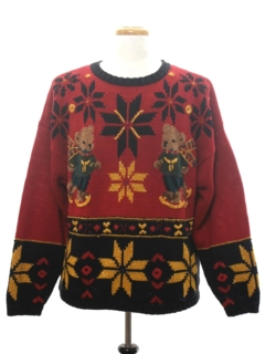 1990's Unisex Vintage Bear-riffic Ugly Christmas Sweater
