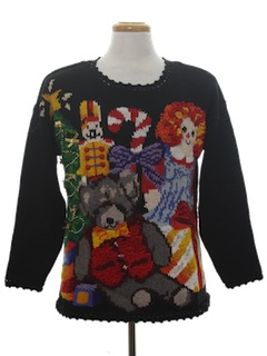 1980's Unisex Amazingly Ugly Christmas Sweater
