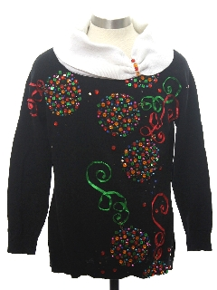 1980's Womens/Girls Ugly Christmas Cocktail Sweater