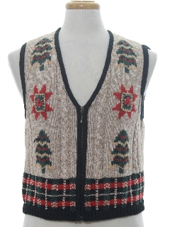 1980's Womens Classic Look Ugly Christmas Sweater Vest