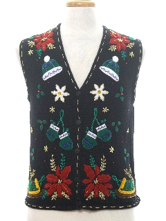 1980's Unisex Ladies, Girls or Boys Ugly Christmas Sweater Vest