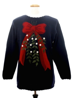 1990's Unisex Look Whats Under the Mistletoe Ugly Christmas Sweater