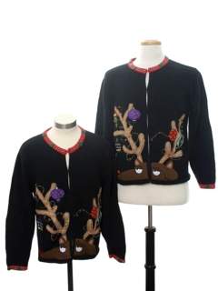 1990's Womens Matching Set of of Two Ugly Christmas Sweaters