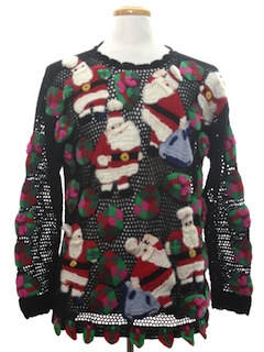 1990's Unisex Designer Amazingly Ugly Christmas Sweater