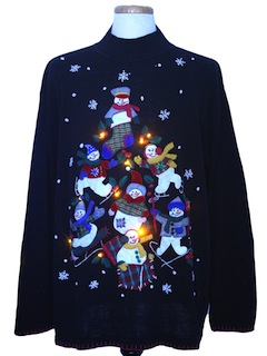 1990's Unisex Amber Lightup Ugly Christmas Sweater