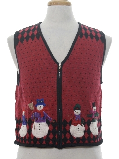 1990's Womens Ugly Christmas Sweater Vest