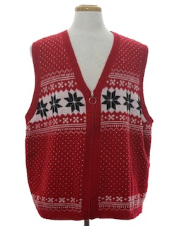 1980's Unisex Classic Look Ugly Christmas Sweater Vest