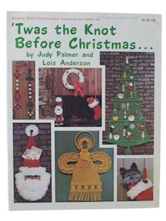 1970's Macrame Christmas Book Sewing Pattern