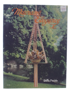 1970's Macrame Book Sewing Pattern