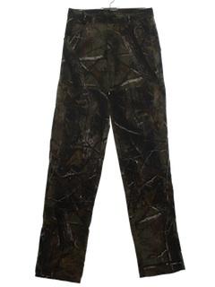 1990's Mens Jeans-Cut Camouflage Camo Pants