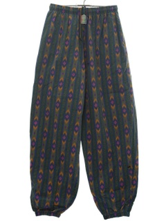 1980's Unisex Totally 80s Print Baggy Pants