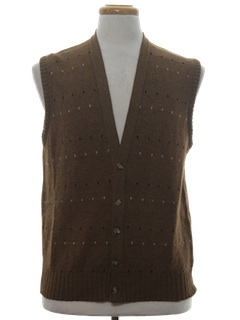 1980's Mens Sweater Vest