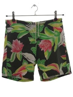 1970's Mens Hawaiian Board Swim Shorts