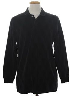 1980's Mens Velour Knit Shirt