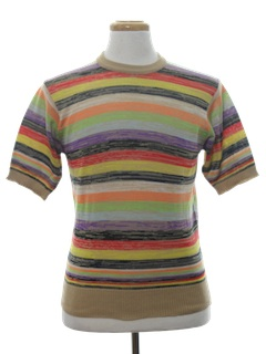 1980's Mens Mod Style Knit Shirt