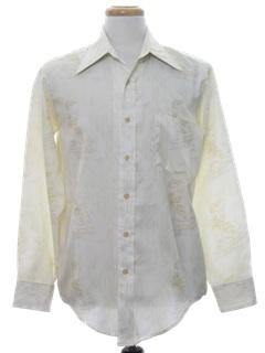 1970's Mens Print Disco Style Shirt