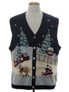 1980's Unisex Vintage Ugly Christmas Sweater Vest