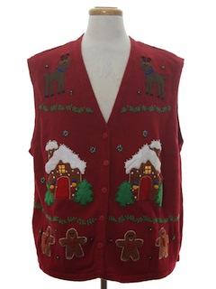 1990's Unisex Ugly Christmas Sweater Vest