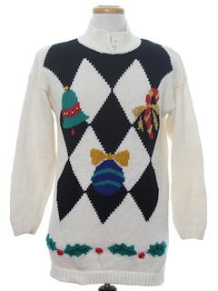 1980's Womens Totally 80s Vintage Ugly Christmas Sweater