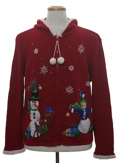 1980's Unisex Hoodie Ugly Christmas Sweater