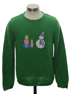 1980's Womens or Girls Minimalist Ugly Christmas Sweater