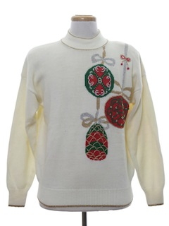 1980's Unisex Vintage Ugly Christmas Cocktail Sweater