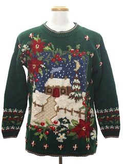 1990's Unisex Vintage Country Kitsch Ugly Christmas Sweater