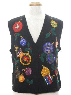 1990's Unisex Designer Ugly Christmas Sweater Vest