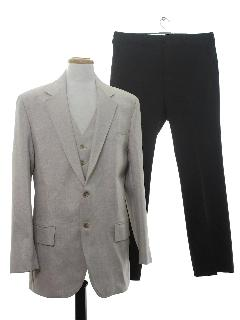 1970's Mens Three Piece Combo Disco Suit
