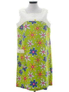 1960's Womens Mod Pow Flower Dress