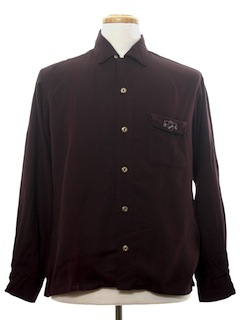 1950's Mens Mod Gabardine Shirt