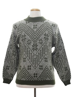 1970's Mens Snowflake Ski Sweater
