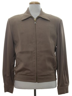 1970's Mens Gabardine Zip Jacket
