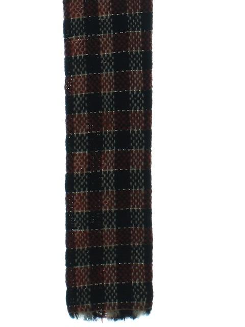 1960's Mens Mod Skinny Flat Bottom Necktie